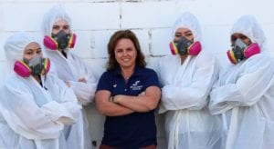 laura spaulding and biohazard cleaning technicians