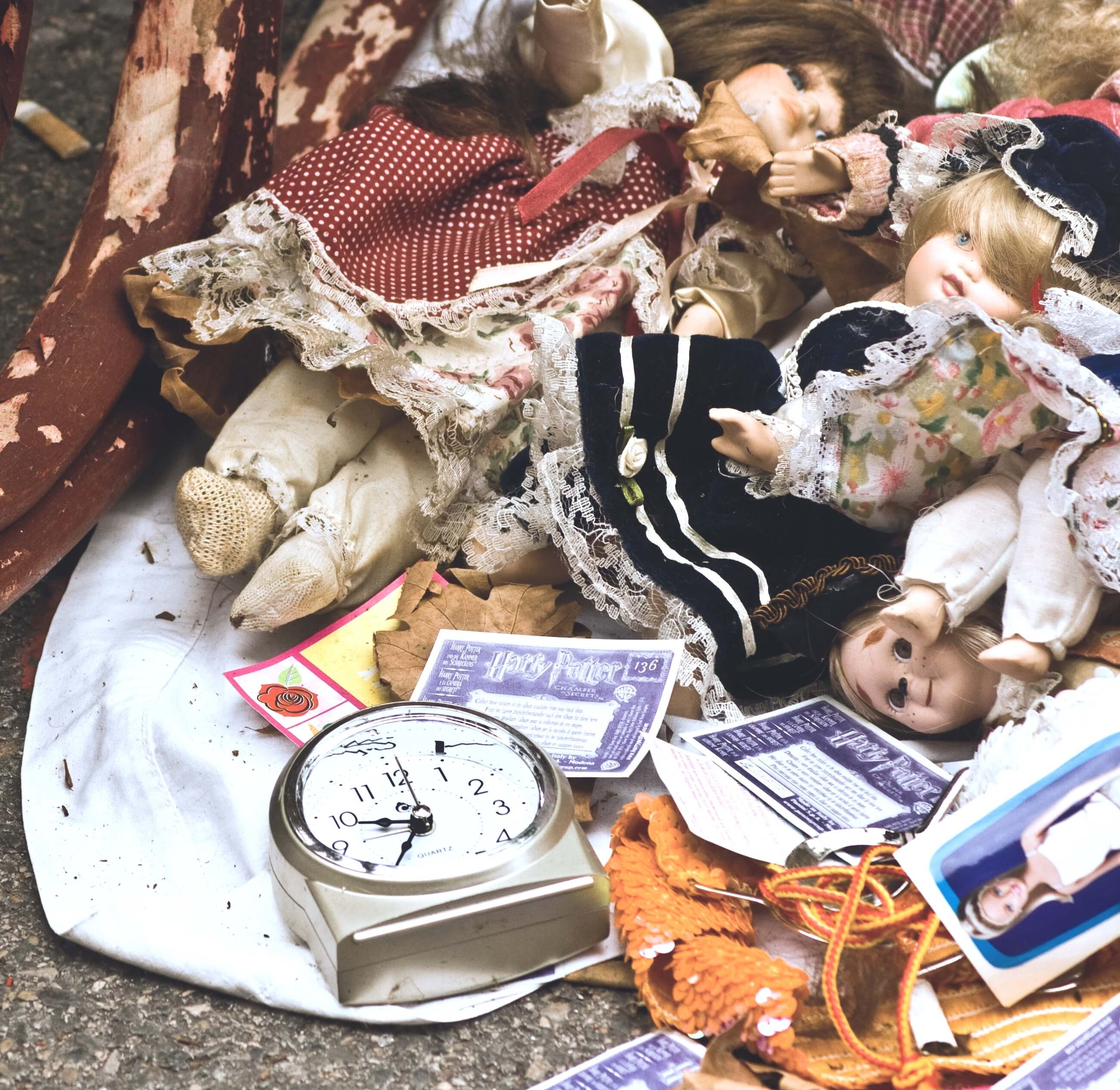 image of dolls collected by a hoarder